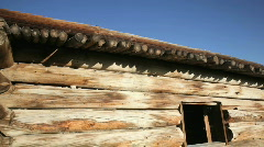 Old Pioneer Log Cabin 2-HD Stock Footage
