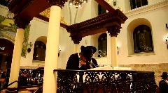 Praying at the Hurva Synagogue, before Yom Kipur, Jerusalem, Israel Stock Footage