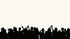 Concert Crowd Silhouette Stock Footage