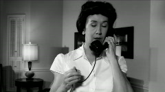Film noir woman on phone Stock Footage