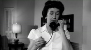 Stock Video Footage of film noir woman on phone