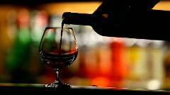 Wine pouring Stock Footage