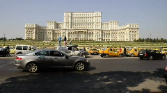 The Palace of Parliament,Bucharest Stock Footage