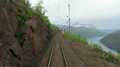 Train journey in Norway Stock Footage