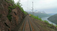 Stock Video Footage of Train journey in Norway