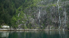 Glacial waterfalls Alaska P HD 8364 Stock Footage