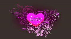 Love flourish. Comes with Alpha. Stock Footage