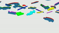 3d pieces forming the word cooperation Stock Footage