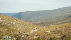 Glenealo Valley, Glendalough, Wicklow, Ireland Stock Footage