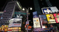 Pan Over Times Square Stock Footage