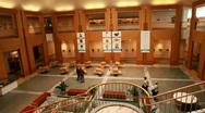 Stock Video Footage of Alaskan Museum lunch room P HD 8048