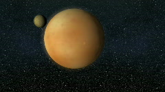Pluto and Charon Stock Footage