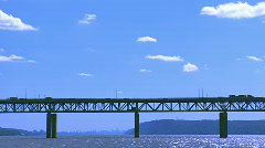 Time Lapse  - Tappan Zee Bridge - stock footage
