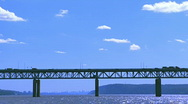 Stock Video Footage of Time Lapse  - Tappan Zee Bridge