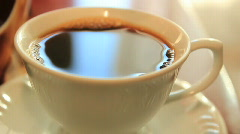 Coffee 1 - adding sweetener to coffee Stock Footage