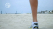 Jogger-runner moon14e1 HD Stock Footage