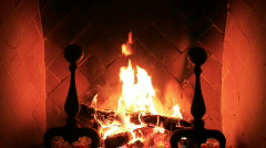 Fireplace MVI 0360 Stock Footage