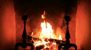 Stock Video Footage of fireplace MVI 0360