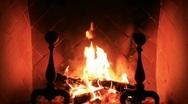 Fireplace MVI 0360 Stock Footage