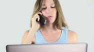 Female On Phone Stock Footage