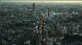 Trafic jam in a big city. Aerial view of Tokyo Footage