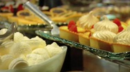 LAS VEGAS STOCK BUFFET DESERT 3 Stock Footage