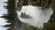 Stock Video Footage of Waterfall Athabasca edge vertical P HD 7586