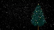 Stock Video Footage of Spinning Christmas tree with snow
