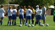 Soccer girls, women Stock Footage
