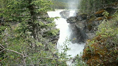 Waterfall Athabasca road P HD 7558 Stock Footage