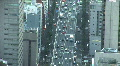 Trafic jam in a big city. Aerial view of Tokyo, Japan. Zoom out.  HD Footage