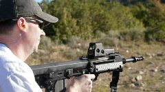 Kel-tec RFB rifle Stock Footage