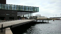 Waterfront in Copenhagen Harbour Stock Footage