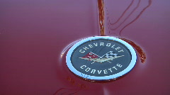 Sleek Back on Red C 1 Corvette Stock Footage