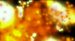 Abstract golden fire star missiles explosives military war arms background. Stock Footage