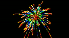 Abstract color flame firework background,holiday explosion particle backdrop. Stock Footage