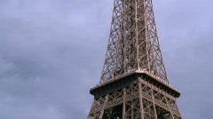 Ascenceurs de la Tour Eiffel - Eiffel Tower elevators - Paris Stock Footage