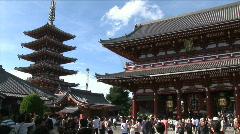 Asakusa Temple 1 - Tokyo Japan. Sensoji, Hozomon gate.  Stock Footage