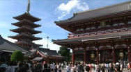 Stock Video Footage of Asakusa Temple 1 - Tokyo Japan