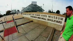 Rock and Roll Hall of Fame 1901 - stock footage