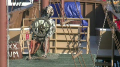 Skelton Pirate.mov Stock Footage