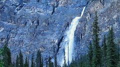Takakkaw Falls landscape P HD 7408 Stock Footage