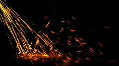falling sparks - stock footage