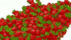 Strawberry flow or stream with slow motion Stock Footage