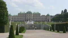 Vienna Belvedere Stock Footage