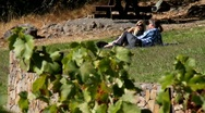 Enjoy the vineyard Stock Footage