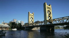 Tower Bridge, Sacramento, California Stock Footage