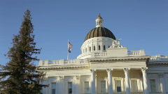 California capitol building (pan) Stock Footage