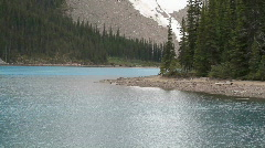 Mountain glacier lake forest P HD 1210 Stock Footage