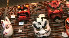 Asakusa Temple 20 - Japanese Masks Stock Footage
